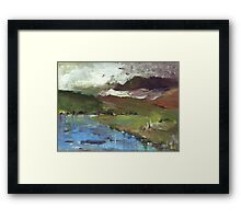 Winter moving in Framed Print