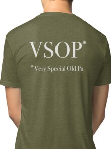 Very Special Old Pa - White Lettering, Funny Tri-blend T-Shirt