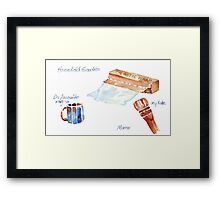 To what lengths will you go when you're bored?!  Framed Print