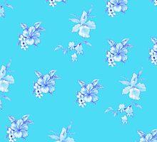 Hawaiian Sea Tropical flower floral print by integralapparel