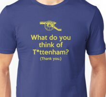 Arsenal - What do you think of T*ttenham? Unisex T-Shirt