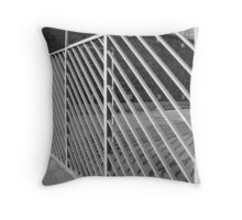 Linear Fence Throw Pillow