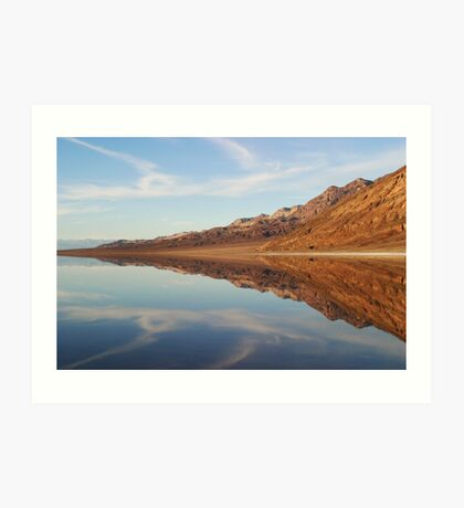 Reflections of Death Valley Art Print