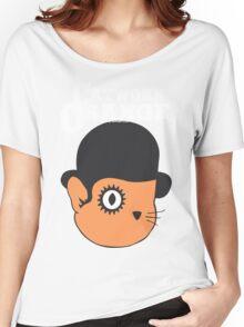 Catwork Orange Funny Geek Nerd Women's Relaxed Fit T-Shirt