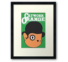 Catwork Orange Funny Geek Nerd Framed Print