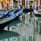 Gondola Stop, Venice by Harry Oldmeadow
