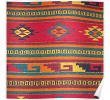 Colorful red Aztec Pattern Poster