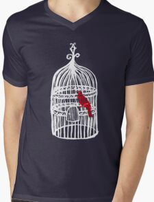cage? Mens V-Neck T-Shirt