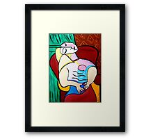 PICASSO PAINTING BY NORA   MOTHER AND CHILD Framed Print