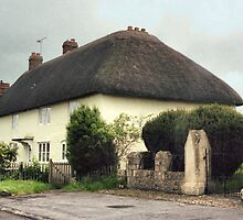 Thatched Cottage at Avebury by Carole-Anne