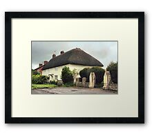 Thatched Cottage at Avebury Framed Print
