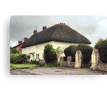 Thatched Cottage at Avebury Canvas Print