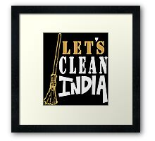 Clean India Funny Geek Nerd Framed Print
