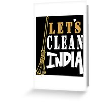 Clean India Funny Geek Nerd Greeting Card