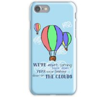 looking down on the clouds [no names] iPhone Case/Skin