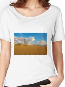 Dead Acacia tree in the Aravah Desert, Israel Women's Relaxed Fit T-Shirt