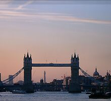 Tower Bridge In Sunset by Britta Döll