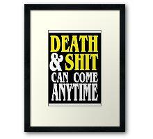 Death & Shit Funny Geek Nerd Framed Print