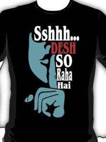 Desh So Raha Hai Funny Geek Nerd T-Shirt