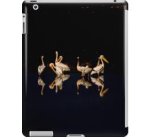 A flock of pelicans at night  iPad Case/Skin