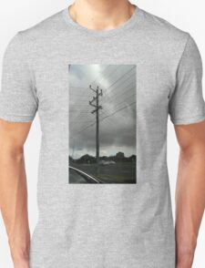 a day and a life of a telephone pole cloudy-style T-Shirt