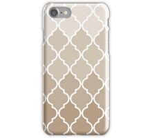 Trendy Chic Girly Cream Brown Quatrefoil Pattern iPhone Case/Skin