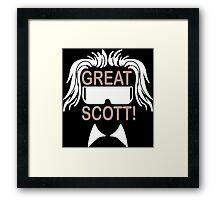 Great Scott Funny Geek Nerd Framed Print