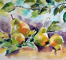 Still life with pears by kovacsannabrigi