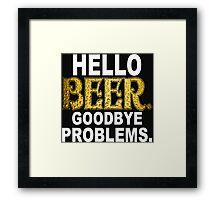 Hello Beer Funny Geek Nerd Framed Print