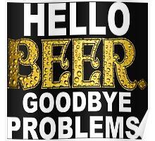 Hello Beer Funny Geek Nerd Poster