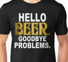 Hello Beer Funny Geek Nerd Unisex T-Shirt