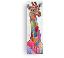 Colorful giraffe Canvas Print