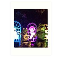 Kermit and Miss Piggy- EPCOT Flower and Garden Show Art Print