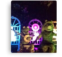 Kermit and Miss Piggy- EPCOT Flower and Garden Show Canvas Print