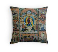 Adoration - Virgin Mary With Angels Throw Pillow