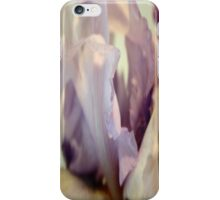 Pale Lilac Iris Abstract iPhone Case/Skin