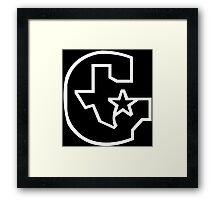 Houston Gamblers Funny Geek Nerd Framed Print