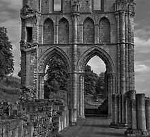 Black & White Collection - Ruined Abbey 2 by Martin Liggett