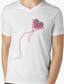 My Heart is Tied Mens V-Neck T-Shirt