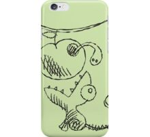 Lizard and apple. iPhone Case/Skin