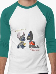 Toothless and Stitch Men's Baseball ¾ T-Shirt
