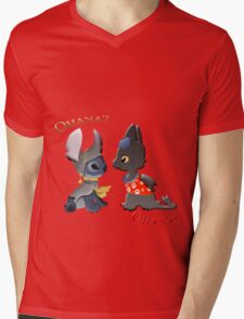 Toothless and Stitch Mens V-Neck T-Shirt