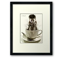just my cup of tea Framed Print