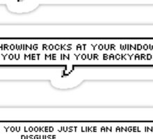 Wrapped Around Your Finger Lyric Set Sticker