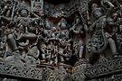 Temple Sculptures, Halebid, India by Syd Winer