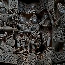Temple Sculptures, Halebid, India by Syd Winer