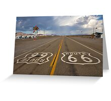 Headed For A Gully Washer On Route 66 Greeting Card