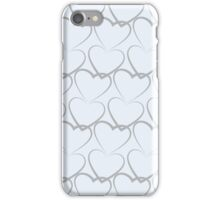 Hearts Pattern Texture iPhone Case/Skin