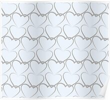 Hearts Pattern Texture Poster