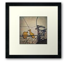 You must be seeing flying frigging yellow Vespas ... Framed Print